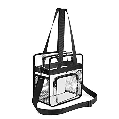Gonex PVC Tote Bag Clear Crossbody Bag NFL Stadium Approved Transparent Schultertasche