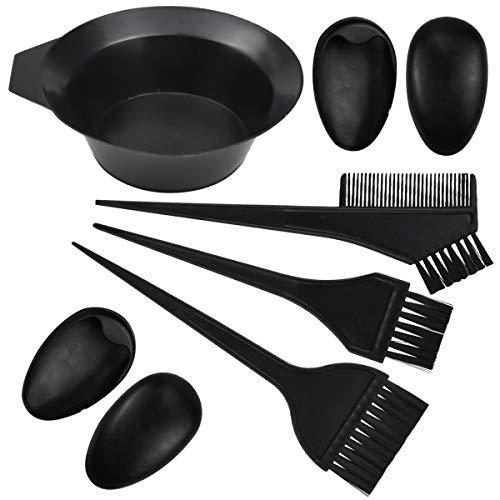Jinlaili 6PCS Haarfärbepinsel Haare Faerben Set, Haar Färben Färbung Set für DIY Salon Haar Färben Werkzeuge, Haarfärbe-Set, Haarfärbemittel Set, Haartönungsschale, Färbebürste, Kamm, Ohrpolster