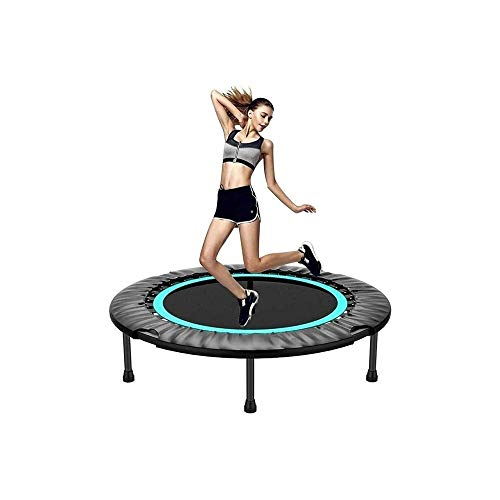 YWAWJ Mini Trampoline, Fitness Trampoline with Safety Pad, Stable & Quiet Exercise for Kids Adults Indoor/Garden Workout