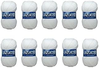 Distrifil - 10 pelotes à tricoter Distrifil AZURITE 0501 pas cher 100% acrylique - 0501