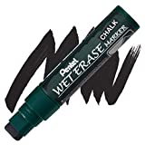 Pentel Wet Erase Chalk Marker, Black Jumbo (SMW56-A)