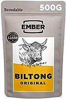 Ember Biltong Grootverpakking - Original Beef Jerky - Eiwitrijke Snack - Original (2x250g)