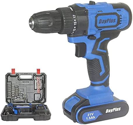 wholesale 21V Cordless Drill Driver Set 3/8 Keyless outlet sale Chuck, Magnet & Hammer Functions, 2 Variable Speed 18+1 Torque 45N.m, 1.5AH Li-Ion Battery Fast Charger 29pcs high quality Drill Driver Bits and Storage Case online sale