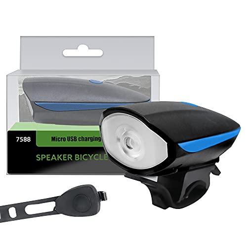 Grevosea Luz de bicicleta impermeable para bicicleta MTB Horn Carga USB LED advertencia de seguridad trasera accesorios