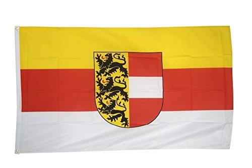 Fahne / Flagge Österreich Kärnten + gratis Sticker, Flaggenfritze®