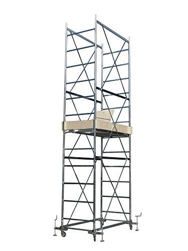 Trabattello, impalcatura, ponteggio mobile ferro zincato per lavoro da imbianchino VERSILIA altezza 5.25m