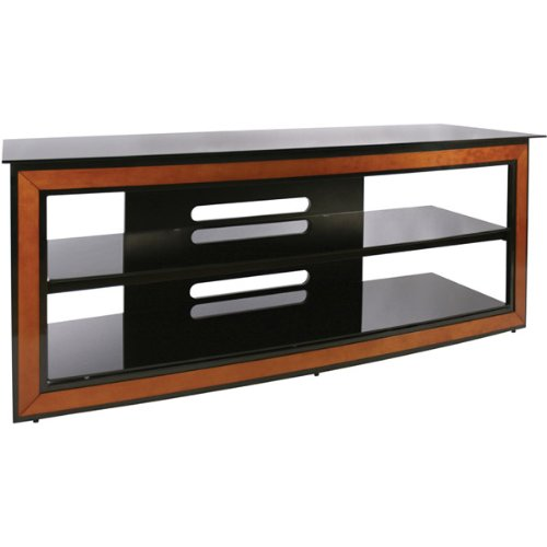 Hot Sale Bello AVSC-2126 Versatile Wood Trim Audio Video Furniture System (Cherry/Black)