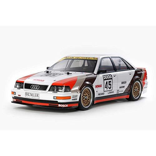 TAMIYA 58682 Audi 1:10 Modell V8 Tourenwagen (TT-02), ferngesteuertes Auto, RC Fahrzeug, Modellbau, Bausatz zum Zusammenbauen, Hobby, Basteln, Mehrfarbig
