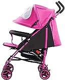 Sillas de Paseo Cochecitos de bebé Aleación de Aluminio Plegable Ultraligero Puede Sentarse Puede acostarse Carro de bebé Implementación bidireccional, automóvil de una Llave