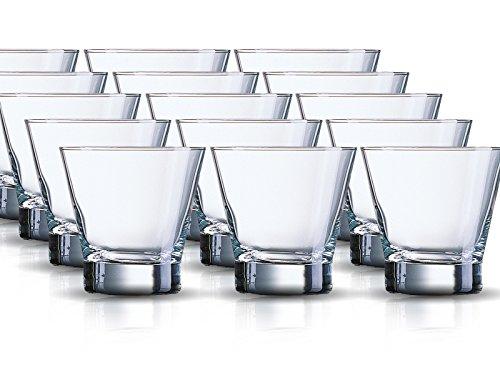 Whiskyglazenset Sheti 12-delig | Inhoud: 320 ml | Whisky Tumbler Een glas voor alle dranken - de perfecte allrounder | Longdrink sap-water-whiskyglazen