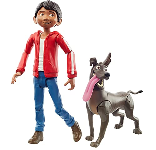 Mattel Disney and Pixar Coco Miguel Action Figure, Movie Character Toy with Dante Dog Figure, Highly Posable with Authentic Design, Gift for Ages 3 Years Old & Up, Multi (GPF45)