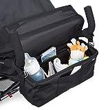 Organisateur, organiseur, sac, sacoche de rangement pour poussette ou landau - L'original BTR. Rabat RÉSISTANT À L'EAU et 2 mousquetons GRATUITS INCLUS. Accessoire pour bébé incontournable.