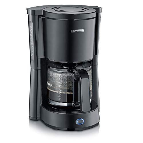 SEVERIN KA 9554 Kaffeeautomat Type, 1000, Edelstahl, 1.25 liters, schwarz-matt