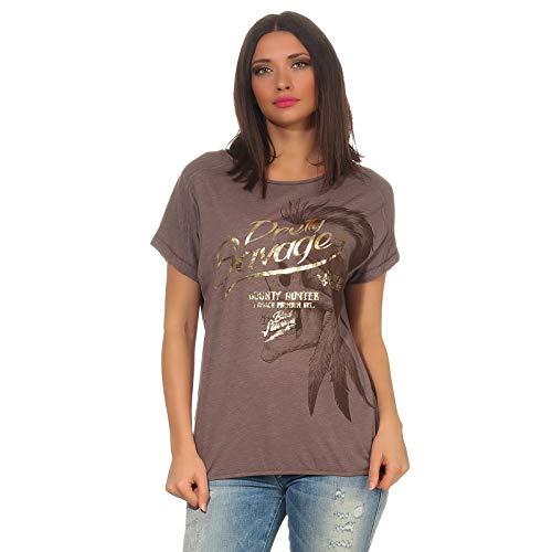 Yakuza Premium Damen T-Shirt GS 2733 braun meliert