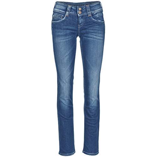 Pepe Jeans Gen Jeans Damen Blau - DE 40/42 (US 33/32) - Straight Leg Jeans Pants