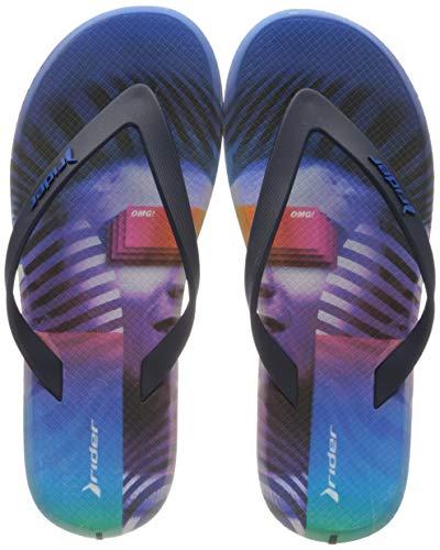 Rider R1 Energy 360 Ad, Chanclas para Hombre, Multicolor Azul Violeta 9283 0, 42 EU