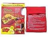 Cocina Express de Patata microondas Bolsa de Patatas Cocina Patatas en microondas, Color Rojo