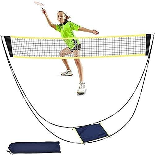 HTDHS Draagbaar badminton net met standaard draagtas vouwen volleybal tennis badminton netto frame ondersteuning…