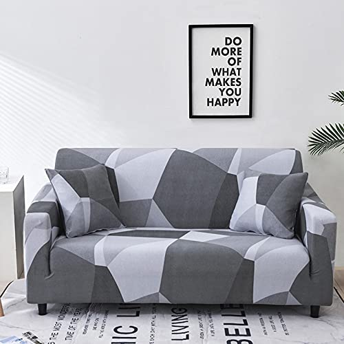 MKQB Funda de sofá de celosía geométrica Cuadrada, Funda de sofá elástica de combinación de Esquina para Sala de Estar, Funda de sofá de protección para Mascotas NO.14 S (90-140cm