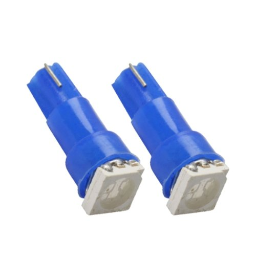 T5SB - SMD LED Ampoule Lampe voiture auto Bleu T5 W2,3W T5 12V tachymètre instrument d'éclairage