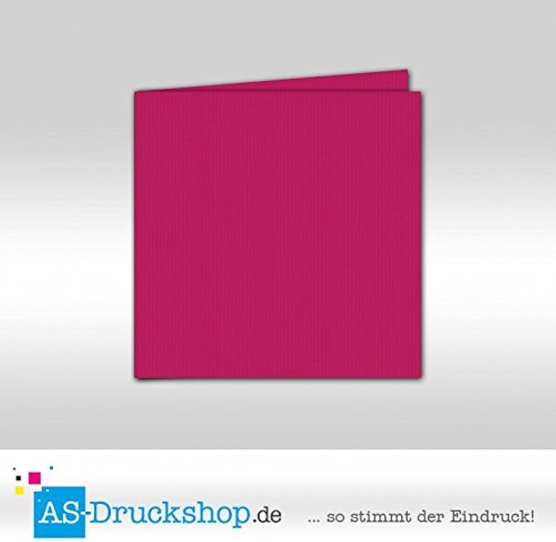 Faltkarte Doppelkarte - Amarena 50 Stück Quadratisch 157 x 157 mm B0794Y7XYG   | Komfort