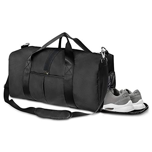 "41L Sports Gym Bag with Shoes Compartment and Wet Pocket, 21"" Travel Duffle Bag for Men and Women"