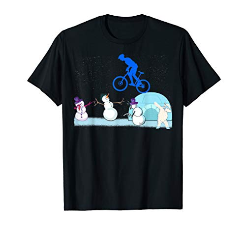 MTB Mountainbike Fahrrad downhill Schneemann Yeti dabbing  T-Shirt