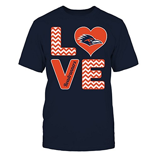FanPrint UTSA Roadrunners T-Shirt - Stacked Love - Premium Men