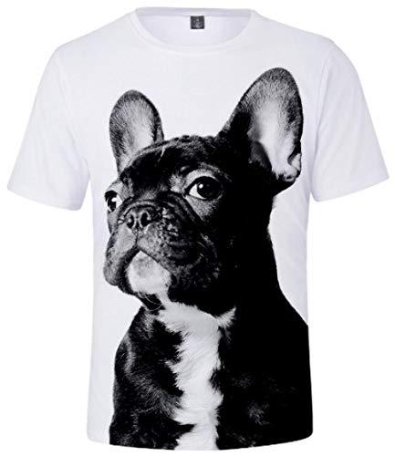RYO Camiseta 3DT para hombre y mujer, de manga corta, impresión de algodón,...