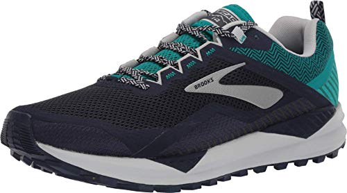 Brooks Cascadia 14, Zapatillas de Running Hombre, Azul (Navy/Blue Grass/Grey 478), 45.5 EU