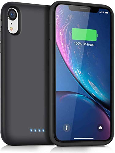 Ekrist Funda Batería para iPhone XR, 6800mAh Funda Cargador Portatil Ultra Capacidad Carcasa Batería Recargable Batería Externa para iPhone XR [6,1 Pulgadas]