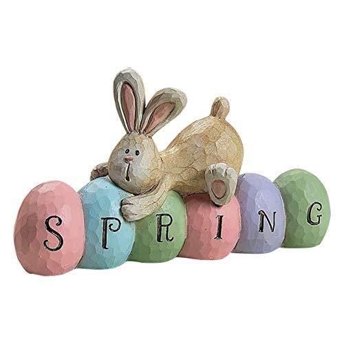 Sealands Decoracin De Estatuilla De Conejito De Pascua, Decoracin De Huevo De Pascua De Conejo De Acrlico, Decoracin para rboles De Pascua, A