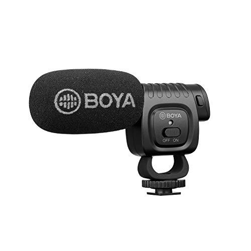 BOYA Kompaktes Kondensatormikrofon für DSLR-Kameras, Camcorder, Audio-Recorder
