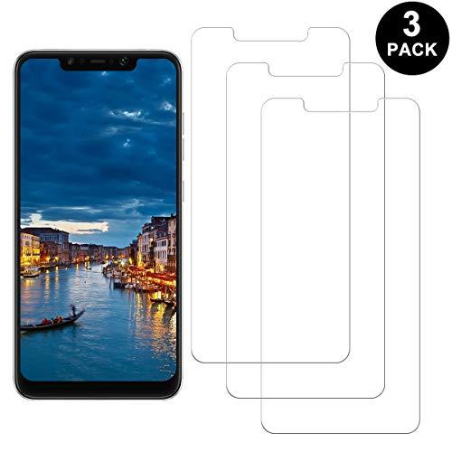 SNUNGPHIR Xiaomi Pocophone F1 Protector Pantalla, Cristal Templado para Xiaomi Pocophone F1, Anti-arañazos, Anti-Huella Digital, Sin Burbujas, 3 Unidades
