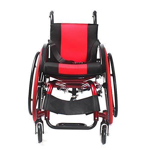 Silla de Ruedas Plegable Manual de aleación de aluminio plegable del peso ligero Deportes silla de ruedas for minusválidos Hijos Adultos de ruedas recorrido del trole Respaldo ángulo ajustable para An