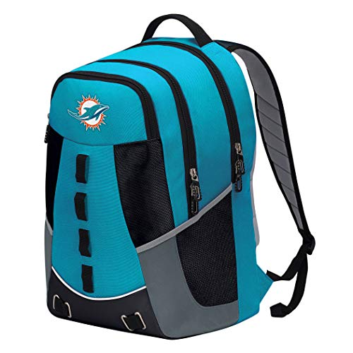 """The Northwest Company Officially Licensed NFL Miami Dolphins """"Personnel"""" Backpack, 19"""", Multi Color"""