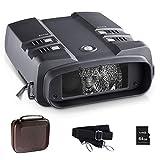 NOCOEX Jumelles Vision Nocturne (3.6-10.8) X31 MM - Écran HD 2,8 Pouces Portée de Vision Nocturne Numérique 850NM 7LV IR Zoom Infrarouge - Photo Vidéo - pour la Faune à 300M - avec TG Carte 64G