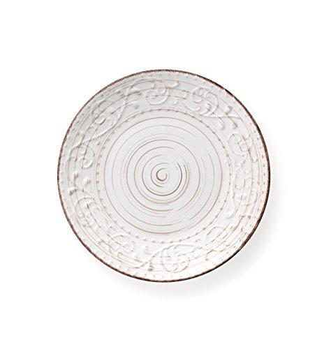Brandani 55960 piatto piano bianco Serendipity stoneware diametro cm 27,5