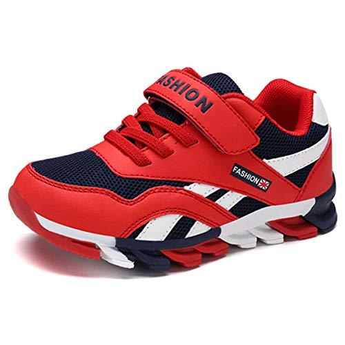HSNA Zapatillas para Niño Zapatos Transpirables Caminar Correr Trainers Kids(a9 Rojo 39 EU)