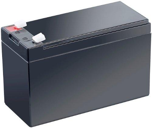 revolt Akku 12V: Wartungsfreie Blei-Akku-Batterie mit 12 V, 7,2 Ah, Flachstecker 4,8 mm (12 Volt Akku)