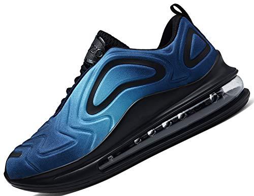SINOES Mujer 91-219 720 Caña Baja Gimnasia Ligero Transpirable Casuales Sneakers de Exterior y Interior Zapatillas Deporte Pisos Loafer Azul 39 EU