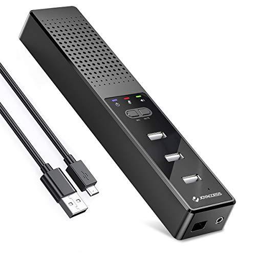 JOYACCESS Altoparlanti PC con Hub e Microfono, Casse con Sdoppiatore USB per PC Fissi e Portatili, Compatibile con Windows/Mac, Soundbar PC per Gaming/Zoom/Skype/Insegnamento in Rete/Lavoro da casa