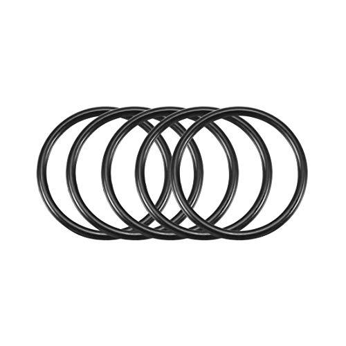 sourcingmap 50 Stück Schwarz 20mm x 1.5mm Nitrilkautschuk O Ring NBR Dichtung Dichtungsringe de