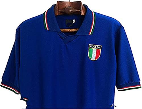 Maglia Italia Calcio 1982, maglia Paolo Rossi No.20, leggenda italiana retrò calcio t-shirt, tifosi Commemorativi divise di calcio, 1982 Spagna Coppa del Mondo, Blu, XL