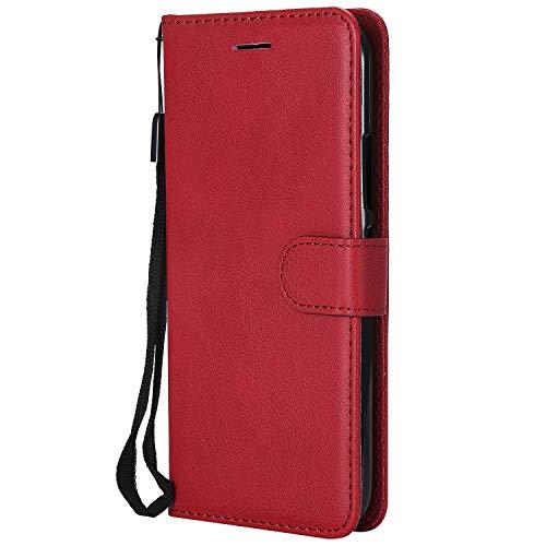 Jeewi Hülle für [Moto G5 Plus] Hülle Handyhülle [Standfunktion] [Kartenfach] [Magnetverschluss] Tasche Etui Schutzhülle lederhülle klapphülle für Motorola Moto G5Plus - JEKT051286 Rot