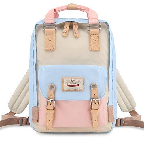 "Himawari Backpack/Waterproof Backpack 14.9"" College Vintage Travel Bag for Women,14inch Laptop for Student (HM-38#)"