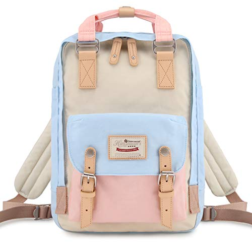 Himawari School Waterproof Backpack 14.9' College Vintage Travel Bag for Women,14 inch Laptop for Student (HM-38#)