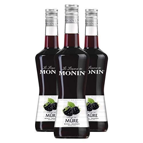 Monin CRÉME DE MÛRE-Liqueur, 3er Pack