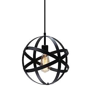 KingSo Industrial Metal Pendant Light, Spherical P...