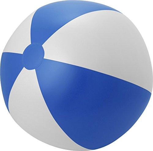 Giving Aufblasbarer Wasserball Groß XXL Spielball 49 cm Wasserball Aufblasbar Farbwahl PHTHALATFREI (Blau-Weiss)